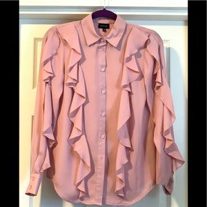 Who What Wear Pink Button Up Shirt XS